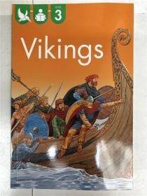 尾单书 reading alone with some help   level3   Vikings  平装  在帮助下独自阅读系列3 海盗