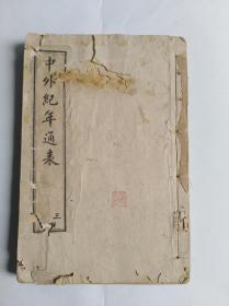 《中外纪年通表》之二唐朝一明朝一册~包邮