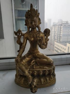 清代鎏金度母佛像