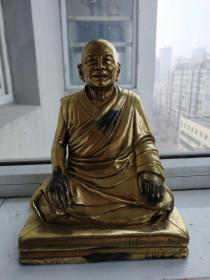清代西藏鎏金坐佛像