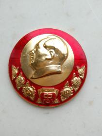3-2042、公、用、忠心、葵花、老三篇,永远忠于毛主席、建华厂,规格48mm.95品。