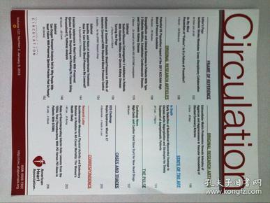 Circulation  American Heart Association 循环 美国心脏协会 学术论文原版杂志期刊2018/01