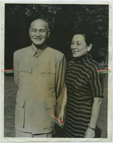 1958年中国台湾总统蒋介石与夫人宋美龄女士老照片