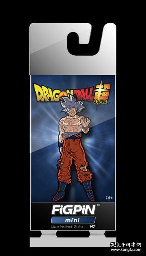 全新七龙珠徽章 美国FiGPiN出品 超级赛亚悟空立式徽章金属胸针 FiGPiN Dragon Ball Super: Ultra Instinct Goku Mini