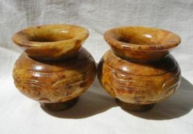 2个老玉小水瓮