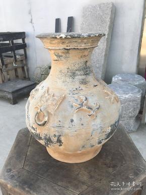 清代 出土陶罐 包浆厚重自然 保存完好,品相及尺寸如图,高42cm,直径32.5cm