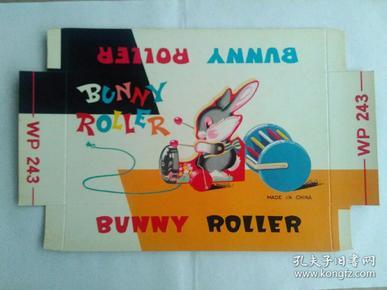 儿童玩具  小兔滚轮 出口商标广告