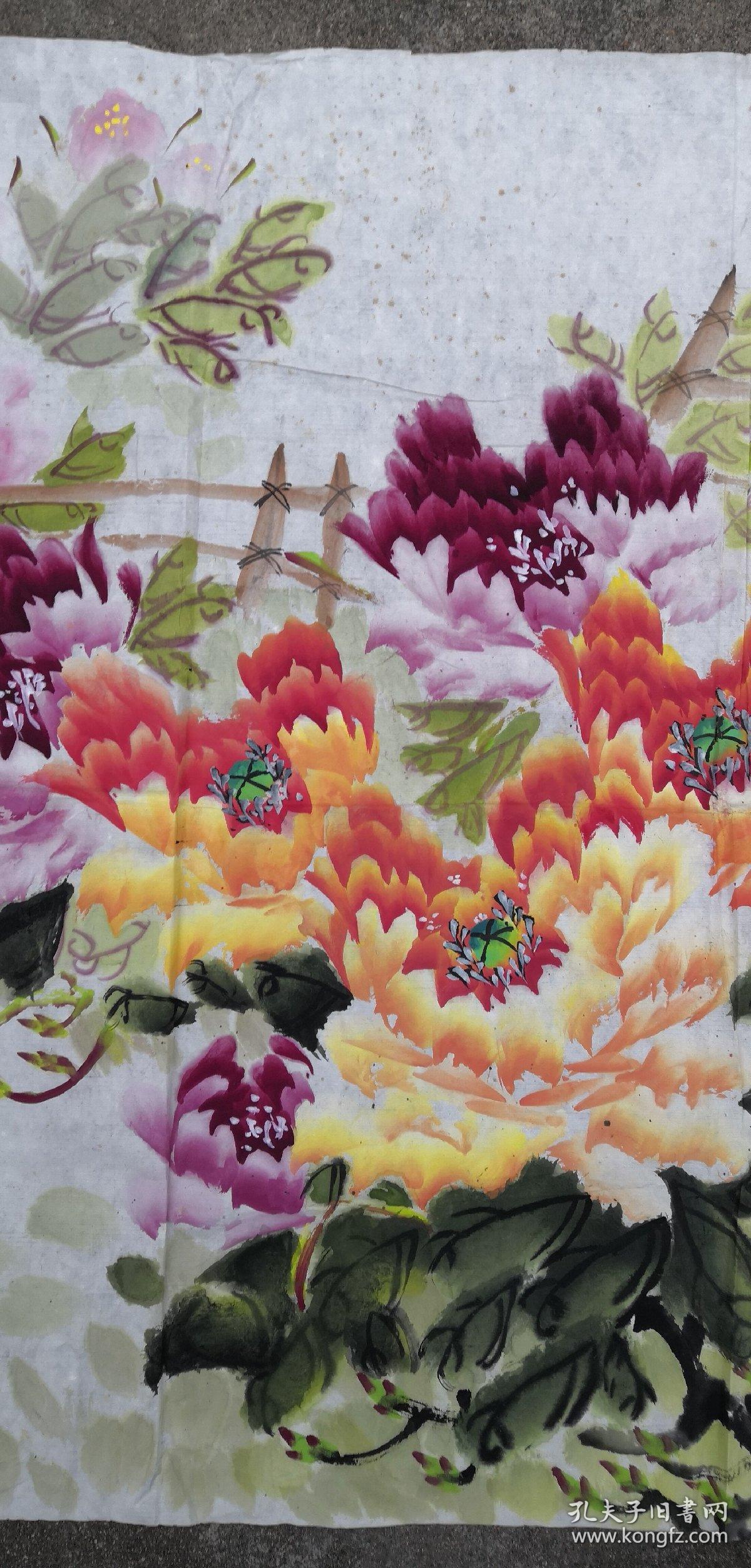 合肥老画家(杨俊清)68*137……花卉图片