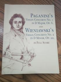 帕格尼尼的小提琴协奏曲Paganinis Violin Concerto No. 1 in D Major, Op. 6 And Wieniawskis Violin Concerto No.2