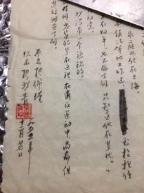 78      原合肥市法院审判员:张我青(张佩瑾)  关于上海市高级人民法院,审判员、审判组组长、姚文元的辩护人:张中的材料    毛笔8k