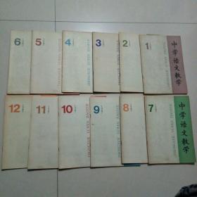 中学语文教学1987年1-12全年