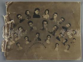 1939年 罕见《浙光中学首届毕业同学留影》一枚(尺寸:19.2*25.4cm) HXTX112400