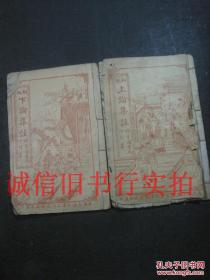 民国锦章图书局线装竹纸铜版-上论集注、下论集注(卷1--10)两册合售 20*13.4CM