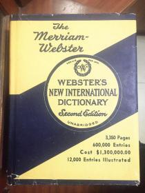 带护封 馆藏未阅 权威辞典 书侧有彩绘及拇指索引 新韦氏国际英语大词典 第二版webster s new international dictionary second edition unabridged