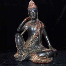 紫铜佛像,高23cm宽14.5cm,重:3255克