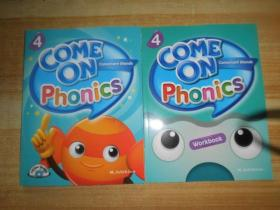 COME ON PHONICS WORKBOOK 4 附2张光盘2本