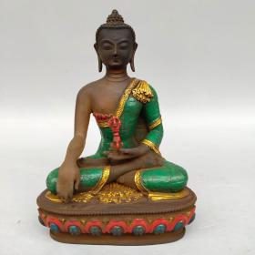 古法老琉璃佛像  释迦摩尼佛尺寸如图,重940克