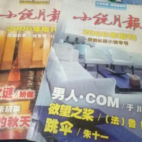 小说月报2006年增刊--原创长篇小说专号.原创长篇小说专号【2】两册合售