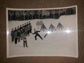 文革美术作品照片 女民兵训练
