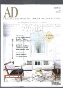 |国外装潢杂志|德文装潢杂志 AD architektural digest 2016年12月