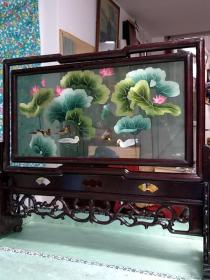 苏州双面刺绣,,春江水暖鸭先知,,52厘米长,有盒子包装