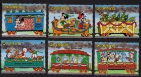 文森特邮票----圣诞火车