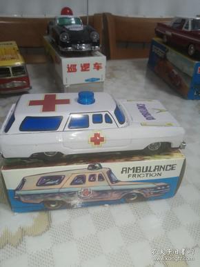 老铁皮玩具 救护车