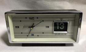 钻石机械老闹钟带日历全铜机芯上弦闹钟走闹正常老物件