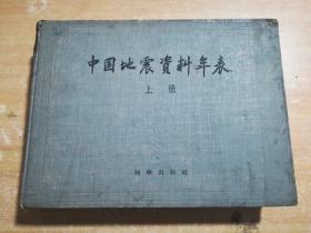 中国地震资料年表(上册)