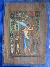 埃及莎草纸工艺画