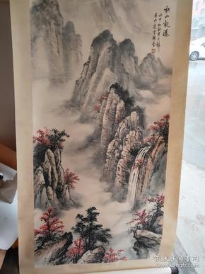 4尺卷轴,低价出,拿回去直接可以挂,,卷轴装裱山水