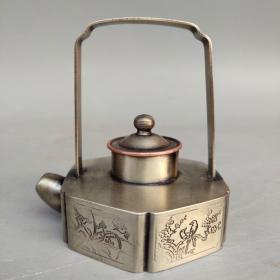 白铜水滴书房用品尺寸如图,重130克