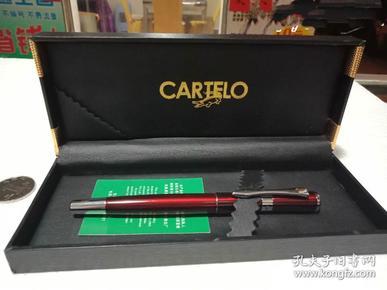 全新带证鳄鱼cartelo钢笔