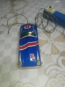 老铁皮玩具 线控6号赛车