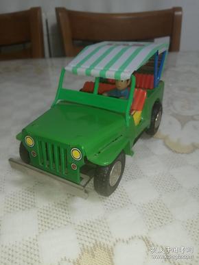 老铁皮玩具 敞篷吉普车