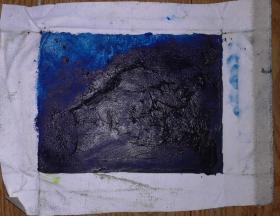 手绘布面油画:无款20190522-01(抽象 20x15)