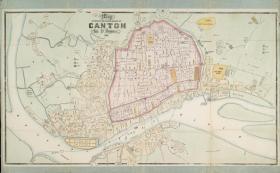 《1860年广州市街道详图》、广州地图、广州老地图。广州市城市变迁珍贵史料,开幅较大102*62。信息丰富,请看图片。原图现藏国外,原图复制。特别说明:由于原图年代久远,打印到今天的纸张上,即使是高清喷印,仍有少许部分字迹不是特别清晰,但可辨认。普通研究与阅览够用。用扫描原文件看,由于屏幕分辨率高,所有字迹全部清晰。有需要放大细看研究的朋友,本店可出让原电子文件,看公告联系。