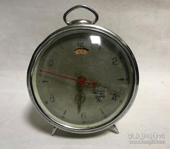 古董老闹钟猫眼会动全铜机芯机械小闹钟马蹄钟正常走时老物件