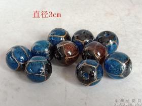 清代传世老琉璃珠子22