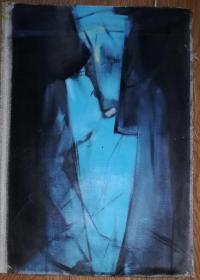 手绘布面油画:新锐艺术家李婷婷《蜕变》(抽象 60x40)