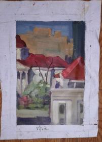 手绘布面油画:无款20190522-03(风景 30x20)
