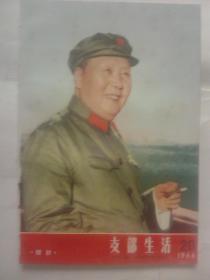 印林彪号召的书:开封市委[支部生活]1966年第20期(封面彩印毛主席像)