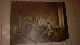 老油画页一张;无题/28.5x21cm、年代不详
