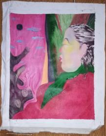 手绘布面油画:无款20190522-05(人物 50x40)