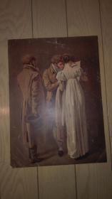 老油画散页一张;无题/27x19.5cm。年代不详