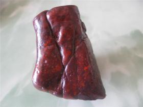 极品顶级纯非常稀有天然陨石新疆红伊丁精品陨石天然正品原石手把件能量把玩补气养生陨石收藏佳品
