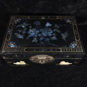 早年漆器盒子 老漆器盒 以前富贵人家首饰盒 珍宝盒