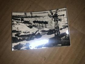 文革美术作品照片 碧海银滩