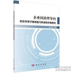 9787030582591 企业间治理导向的合作电子商务能力形成和作用研究