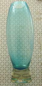 老玻璃素花瓶【厚壁】